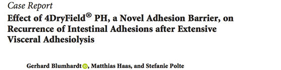New publication on 4DryField<sup>®</sup> in visceral adhesiolysis